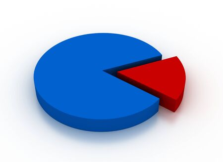 3D render of colored pie chart Stock Photo - 10704687