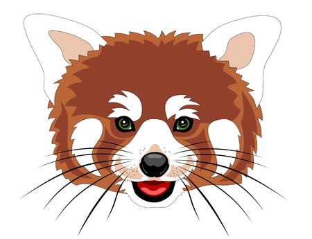 Vector illustration of red panda cartoon style Vector