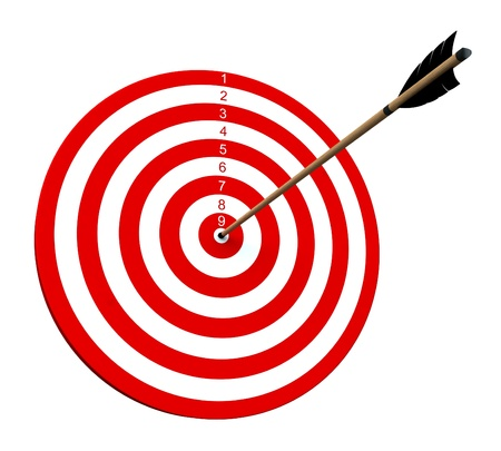 An arrow hitting the center of target photo