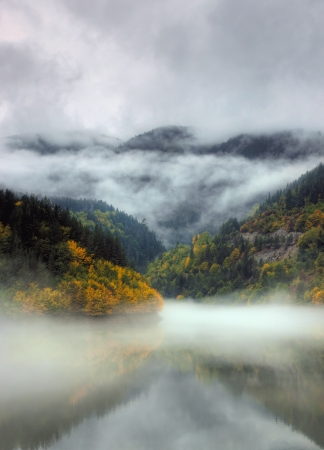 Dam Teshel situated in mountain Rodopi, Bulgaria