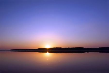 floatable: Sunset on the Danube river