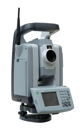 geodetic: Geodetic angle and distance measuring instrument total station