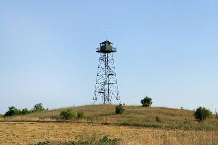 military watch: Military watch tower in border area