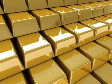 A pile of gold bullions photo