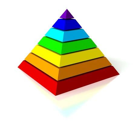 추상 3D 흰색 배경 위에 피라미드의 렌더링 스톡 콘텐츠