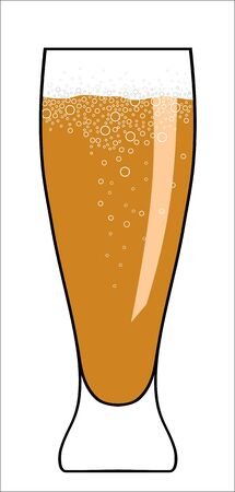 Abstract vector illustration of glass of beer