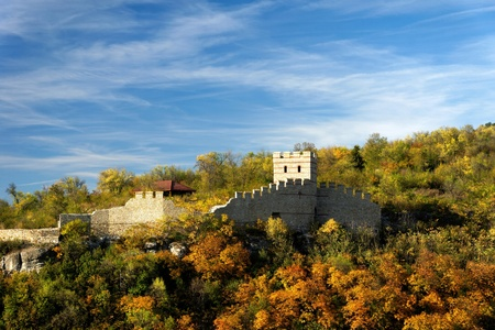 Part from an ancient fortress on autumn background Stock Photo - 16038497