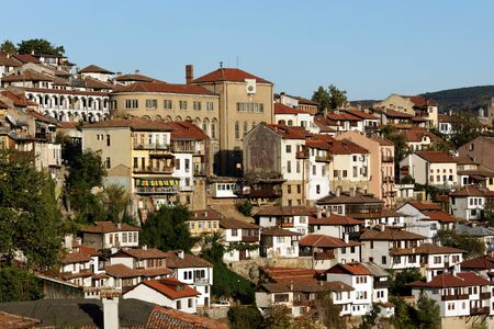 veliko: View from attractive town Veliko Tarnovo situated in Bulgaria Stock Photo