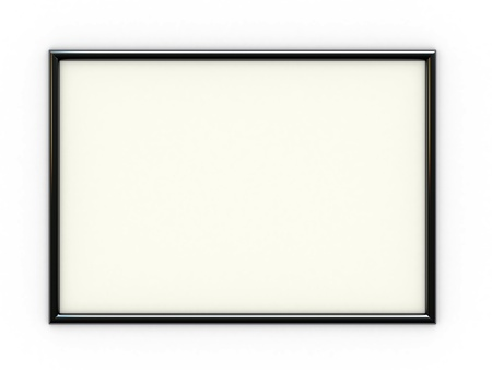 black picture frame: Empty black frame with place for yor text or image