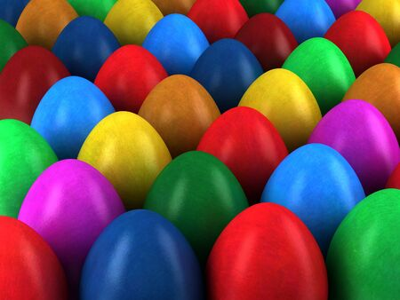pasch: 3d render of Easter eggs Stock Photo