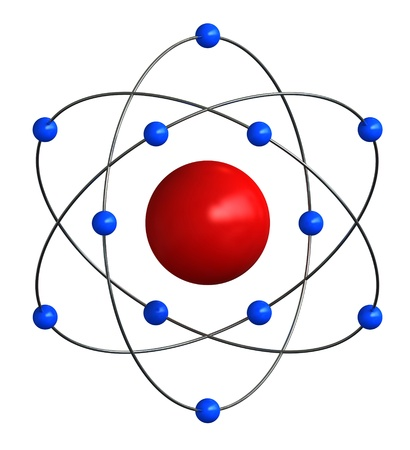 atomic structure: 3d render of abstract atomic structure