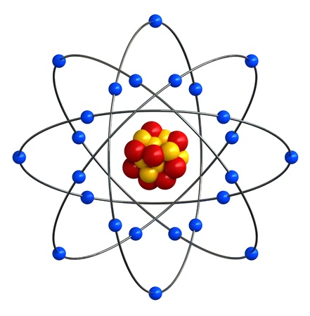 ions: 3d render of abstract atomic structure
