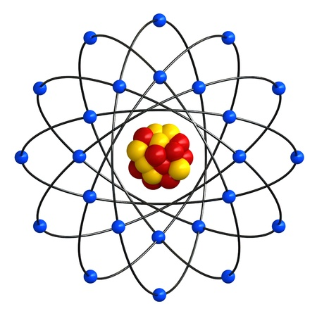 3d atom: 3d render of abstract atomic structure