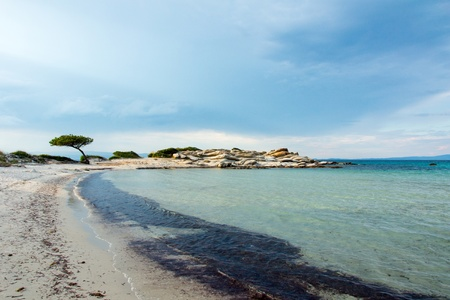 Vourvourou beach, Chalkidiki, Sitonia, Greece Фото со стока