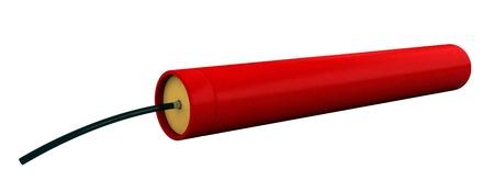 dinamita: 3d de cartucho de dinamita aislado sobre blanco apaisada