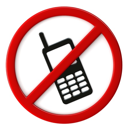 cell phones not allowed: 3d render of cell phones not allowed sign