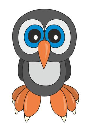owlet: Ilustraci�n vectorial de estilo de dibujos animados owlet