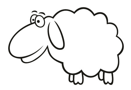 cartoon sheep: Abstract vector illustration of sheep cartoon style Illustration