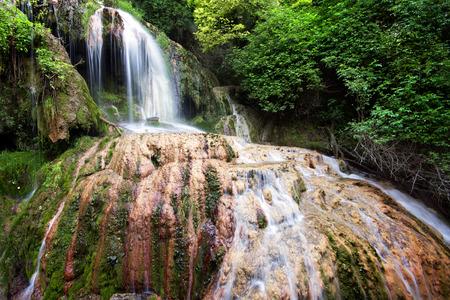 balkan peninsula: Krushunas waterfalls, located in Bulgaria are the longest waterfalls cascade on Balkan peninsula