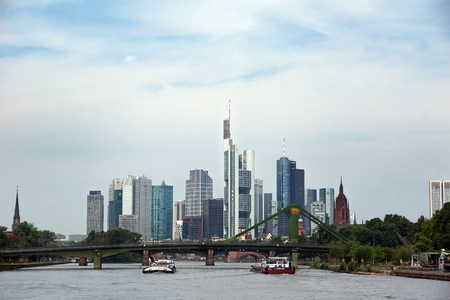 river main: View of Frankfurt am Main during the day