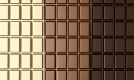 chocolate bars: 3d render of various types of chocolate bars Stock Photo