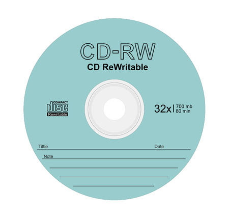 Vector illustration of compact disc on white background