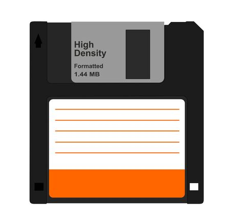 old pc: Vector illustration of computer diskette
