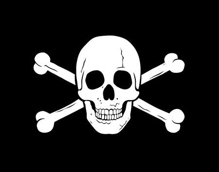 jolly: Vector illustration of piratical symbol jolly roger