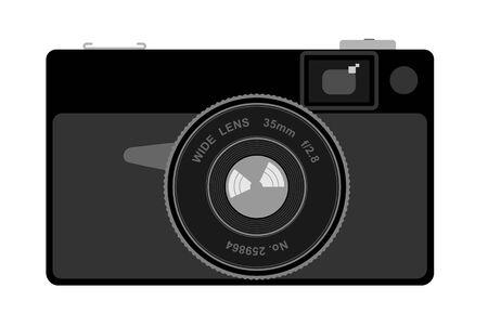 negativity: Vector illustration of an old camera