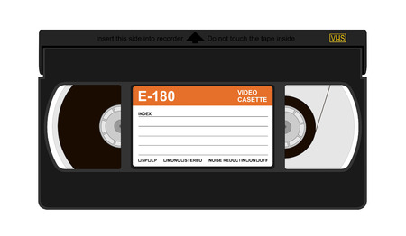 vcr: Vector illustration of a  cassete