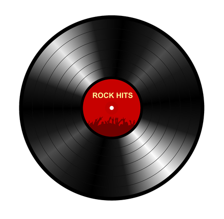 vynil: Vector illustration of an music vynil disk Illustration