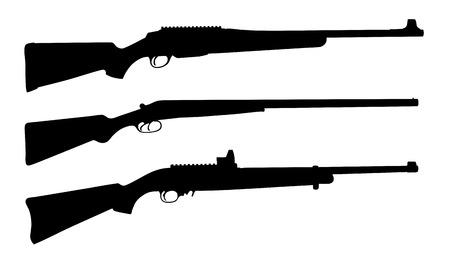 lethal: Vector illustration of shotguns silhouettes
