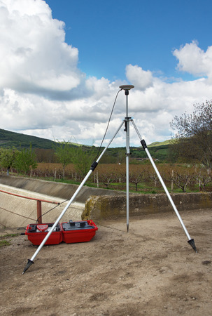 geodetic: Static geodetic measurement with GPS Stock Photo