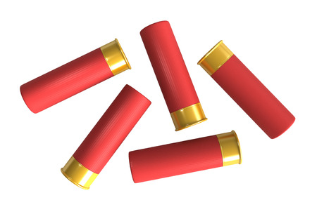 caliber: 3d render of hunting cartridges isolated over white  Stock Photo