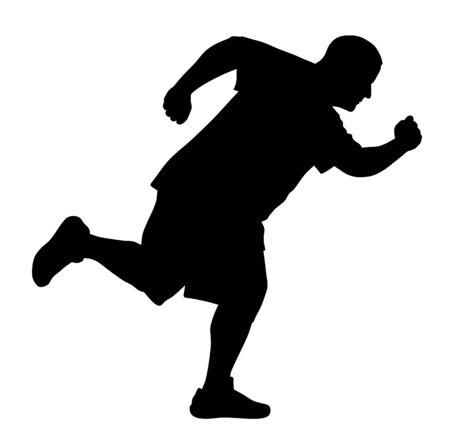 runners: Vector illustration of runner silhouette