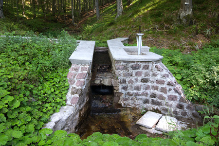 hydrology: Mountain water catchment alpine type