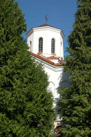 religious building: Fragment from Orthodox christian church Stock Photo