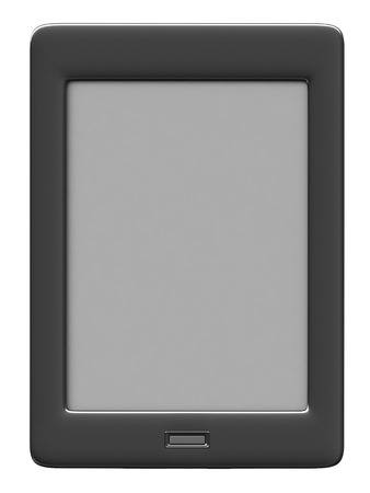 kindle: 3d render of reader electronic book over white background