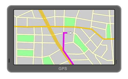 gps device: illustration of GPS navigation device Illustration
