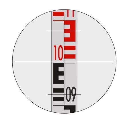 leveling: illustration of staff gauge