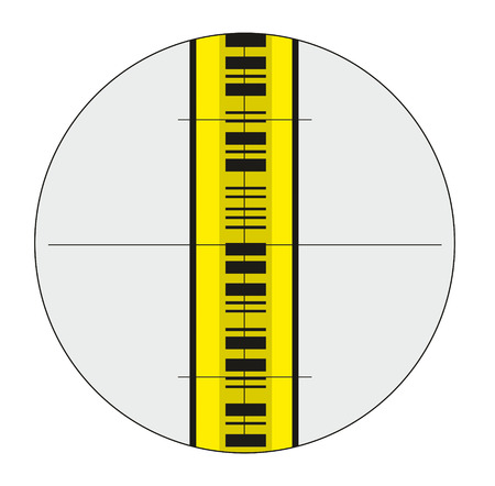 eyepiece: illustration of staff gauge