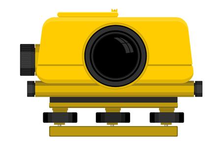 leveling: illustration of digital level device