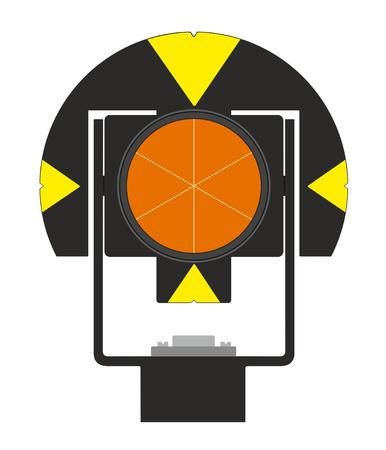 leveling: illustration of geodetical prism Illustration