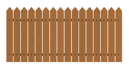 wooden: 3d rendering of wooden fence isolated over white background