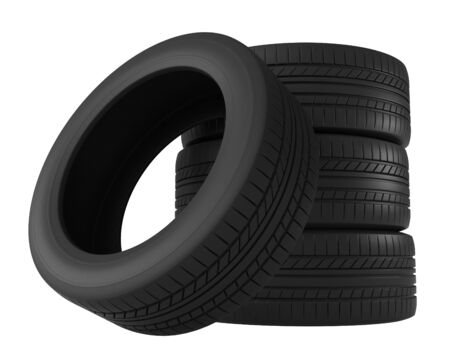 the protector: 3d rendering of tires isolated on white background
