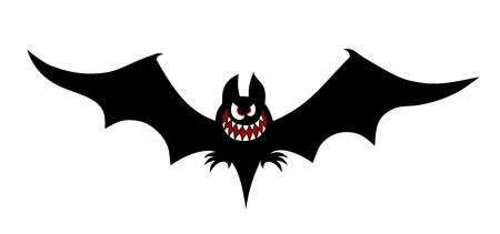 mamal: illustration of a bat cartoon style