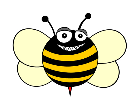 humourous: illustration of a bee cartoon style