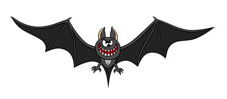 illustration of a bat cartoon style