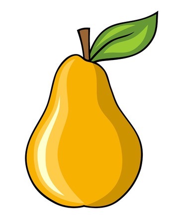 Abstract illustration of a pear cartoon style