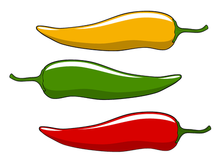 Abstract illustration of peppers cartoon style